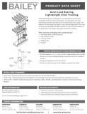Axial & Wind Load Bearing Data Sheet - thumb