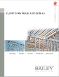 c joist span tables and details