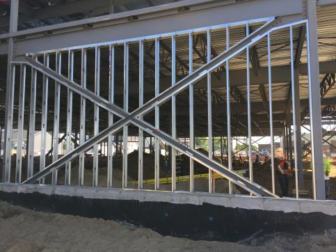 Exterior steel framing
