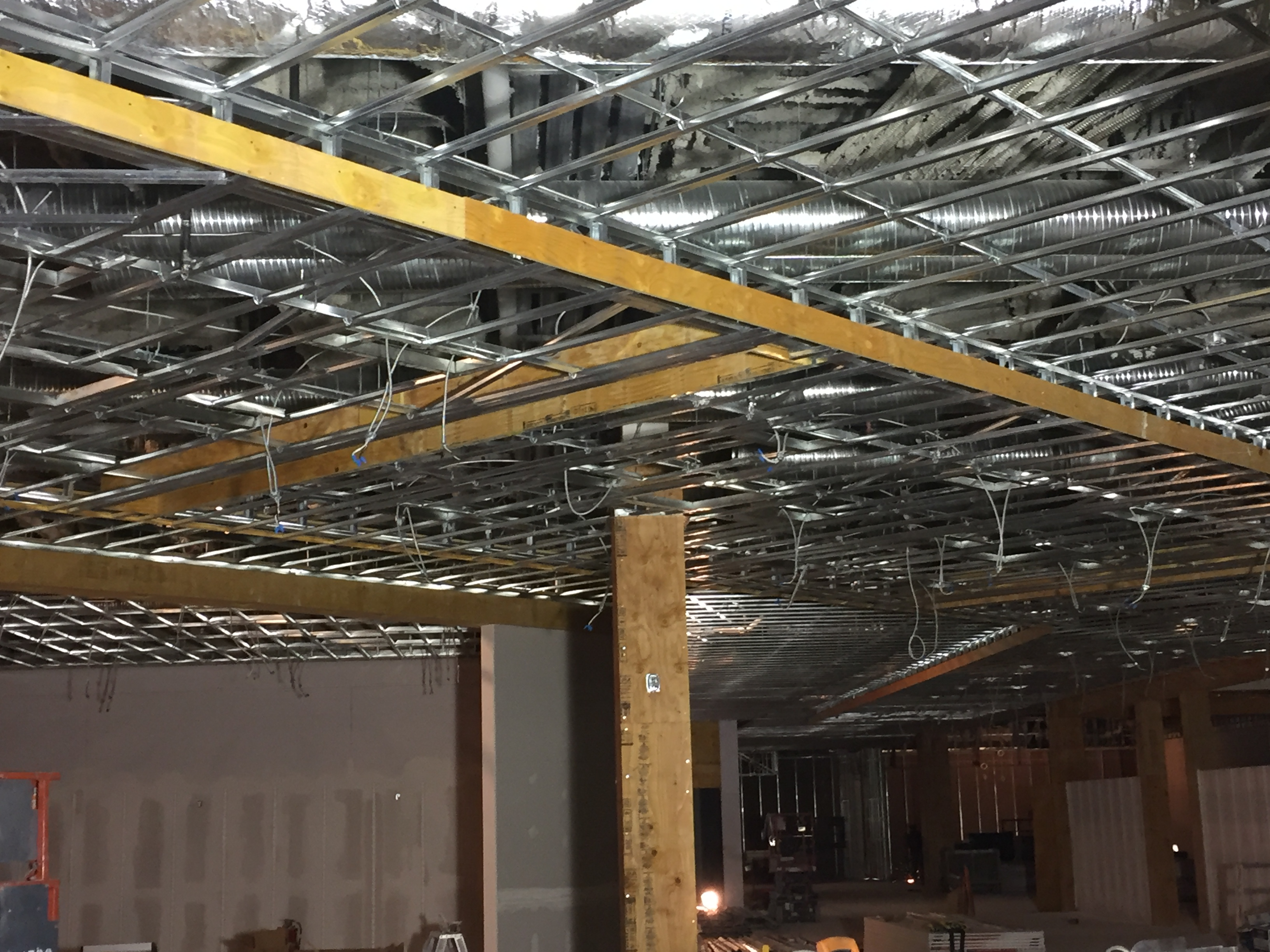 BMP Furring Channel was used in the construction of the ceiling